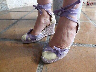 Espadrilles chaussures compensées mauves christian louboutin pointure 37