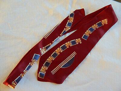 1940s Mens Ties | Wide Ties & Painted Ties 1940's Silk Tie - Pebble Beach $11.95 AT vintagedancer.com