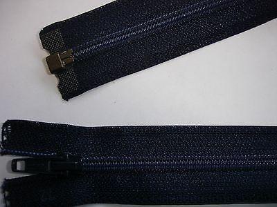 RV 302 Reißverschluß opti dunkelblau 76cm, teilbar 1 Stück
