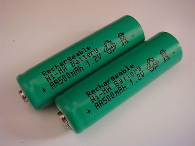 2x Akku Mignon AA Ni-MH 500mAh 1,2V für SOLAR-Leuchten Lampen LED Telefon Aa Solar Akku