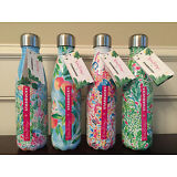 Starbucks Lilly Pulitzer S'Well Stainless Steel Water Swell Bottle Set of 4 NWT