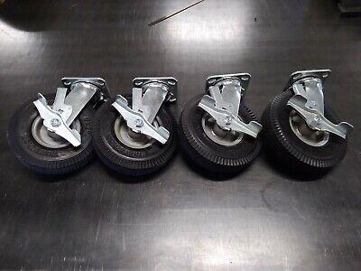 Marathon 8 X 2 Flat Free Swivel Locking Caster Wheels Set Of 4