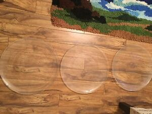 "3 Glass Platters - 14 3/4"" diameter"