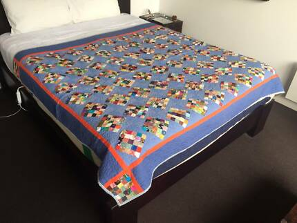 Detailed Patchwork Quilt - Handcrafted Locally