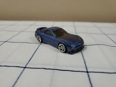 (Loose) Hot Wheels 2017 #3/10 Then And Now Series '95 Blue Mazda RX-7 #333/365