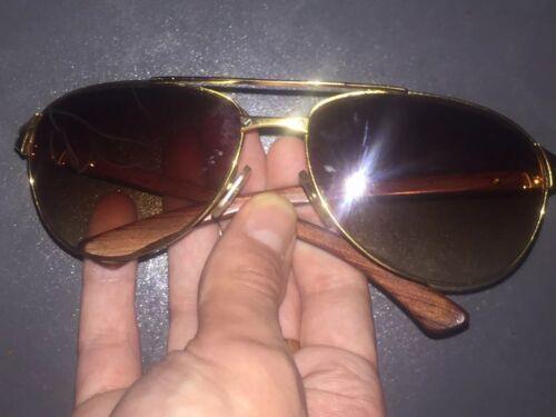 Lunettes cartier santos dumont wood (vintage sunglasses eyewear frames)