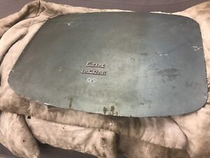 E type jaguar series one roadster boot lid