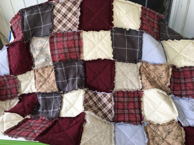 New Queen Size Rag Quilt, Handmade Custom! Deposit Only, See Description