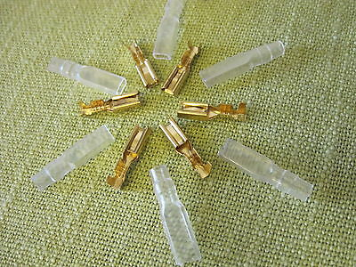 U.s. Seller - 20 Pcs 2.8mm Gold Tone Crimp Terminals Female Spade Connector