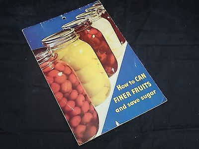 1956 Karo Syrup How To Can Finer Fruits Save Sugar Canning Recipe Book - Fruit Syrup Recipe