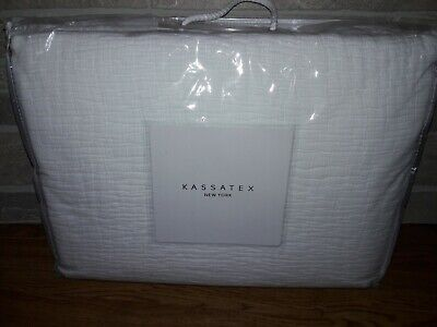Kassatex Laffayette Coverlet, White, Size Queen