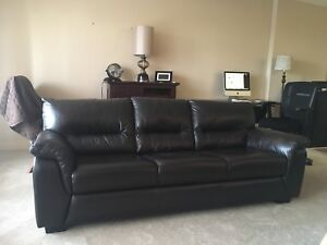 Leather Couch  - Expresso Brown