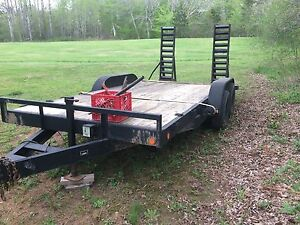16ft flat deck tandem  ( sold ppu Saturday )