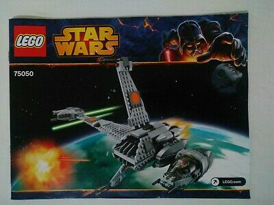 LEGO Star Wars B-Wing Fighter (75050) Instruction Manual ONLY VERY RARE