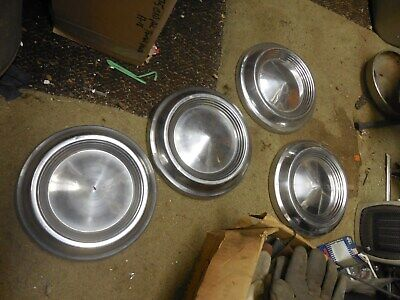1960's? Mercury Ford Poverty Dog Dish Hubcaps Set of 4 drivers