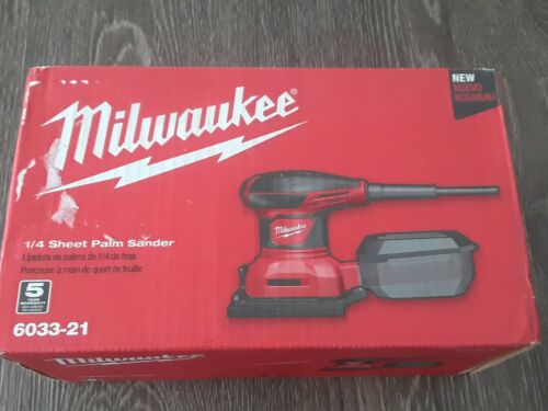Milwaukee 1/4 Sheet Palm Sander, Model# 6033-21 pickup only
