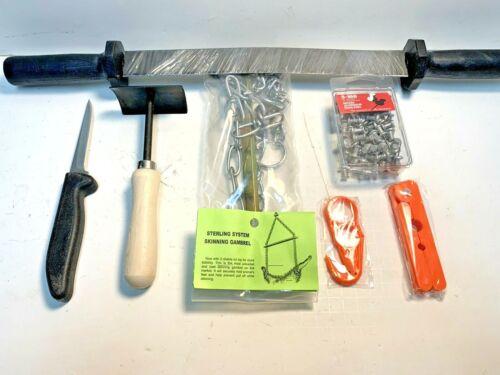 Deluxe Fur Handling Kit (Trapping Supplies skinning knife fleshing tool)