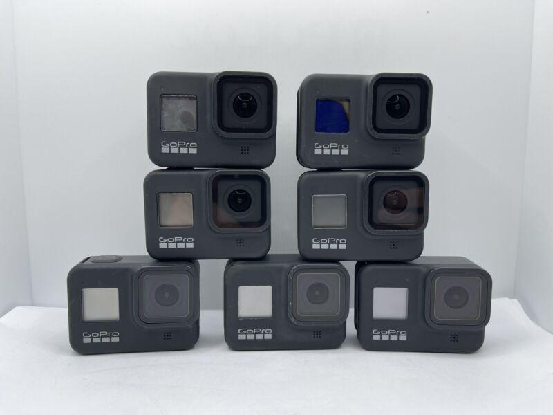 GoPro HERO8 Black Action Camera Lot Of 8 (For Parts/Repair) - No Power
