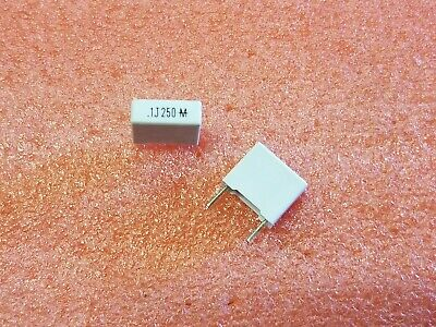 10x Mallory 160-104j250d Metal Film Polyester 250v 0.1uf Through Hole Capacitors
