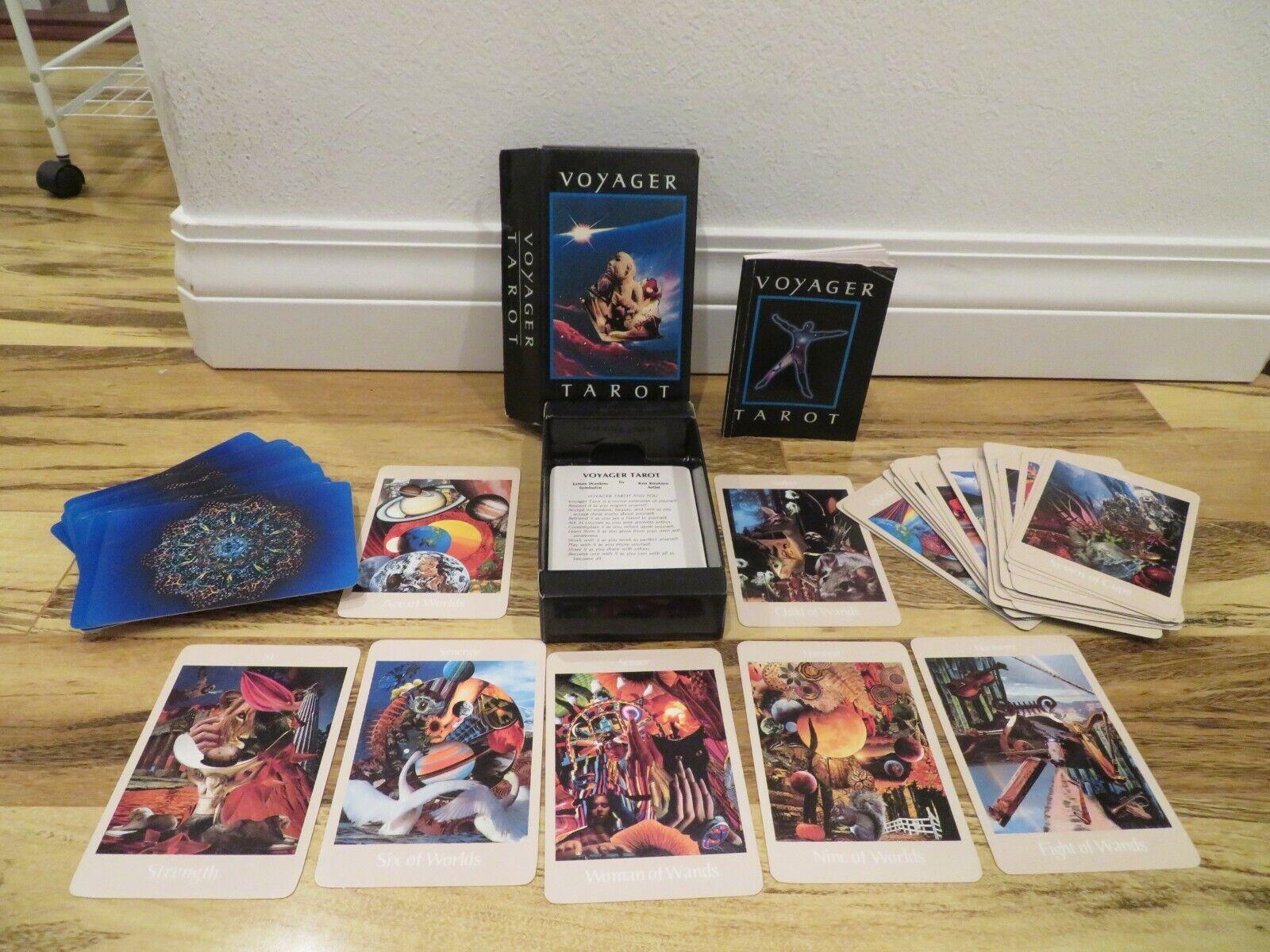 Voyager Tarot Deck Cards Guidebook Set 1986 James Wanless Ken Knutson Universal - $65.00