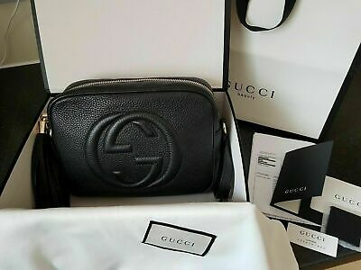 **100% AUTHENTIC GUCCI SOHO DISCO BAG - BLACK