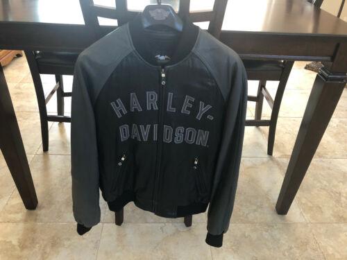 Harley Davidson 100th Anniversary Leather Bomber Jacket - Mens Size Large