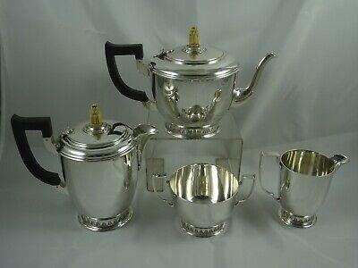 MAGNIFICENT ART DECO silver TEA SET, 1978, 1866gm