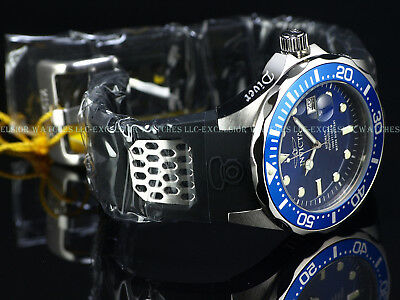 New Invicta Men's 47mm GRAND DIVER NH35A Automatic Blue Dial Rubber Strap Watch