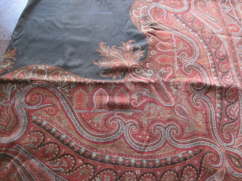 Antique Woolen Paisley Woven Shawl- from the early 1900