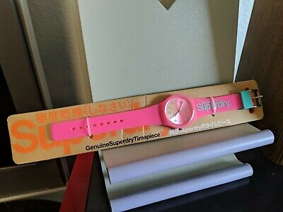 SUPERDRY WATCH Unisex MODEL SYL198PN pink Teal New