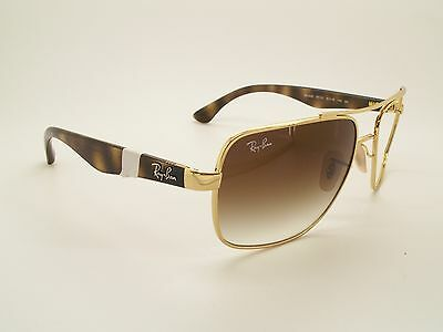 663d17a03d RAY BAN RB3483-001-51 SUNGLASS TORTOISE GOLD BROWN