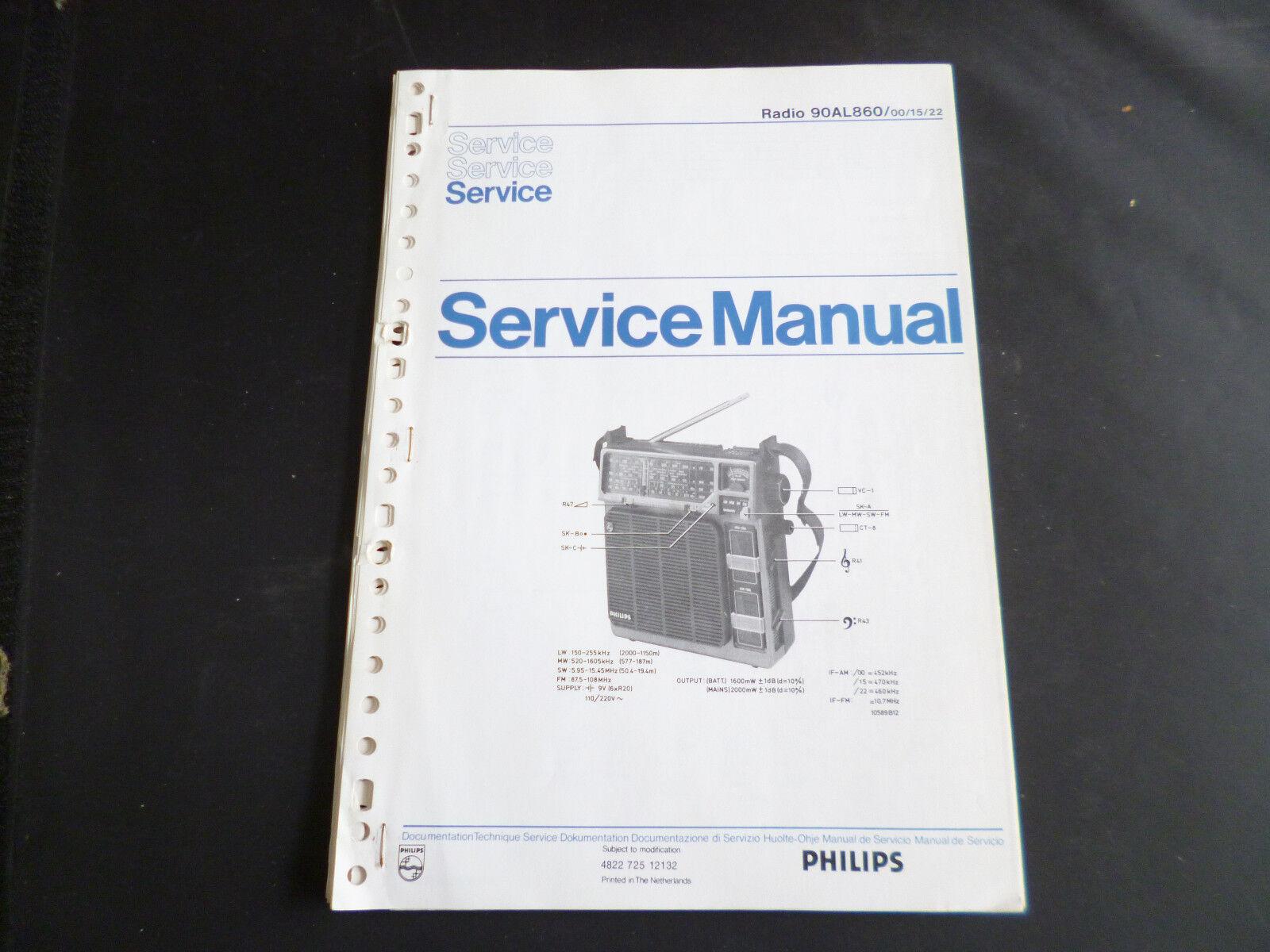 Original Service Manual Philips 90AL860