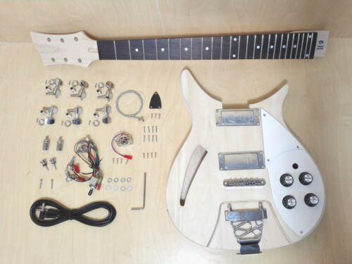 Semi-Hollow Body,NO-SOLDERING Electric Guitar DIY Kit,Set-Neck. GK HSRC 1910
