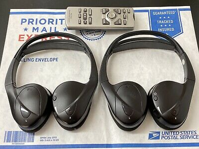 11 14 Toyota Sienna Wireless Bluetooth Headset Headphone Set Oem Free Remote Ebay