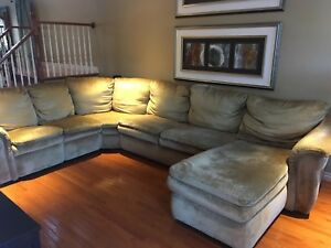 Lazy Boy sectional sofa with double hideaway bed