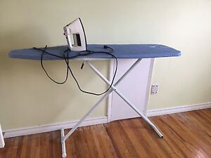 Iron and ironing table