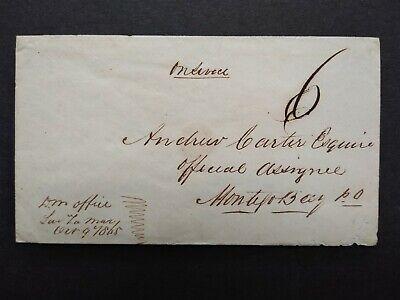 Jamaica: Sav(anna) la Mar 1865 Stampless Cover to Montego Bay