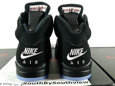 Nike Air Jordan 5 Black Metallic OG Size 12 w/ Receipt V Silver 2016 845035-003