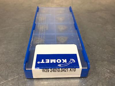 Komet W29 24010.0421 K10 Carbide Insert Drill 10 Pcs