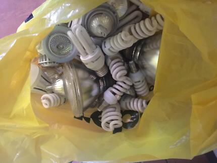 bag of used light bulbs