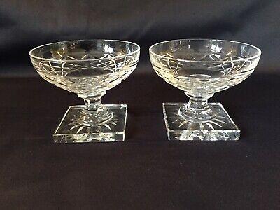6 coupes à champagne en cristal GONDOLE taille losange H:80 mm Val St Lambert