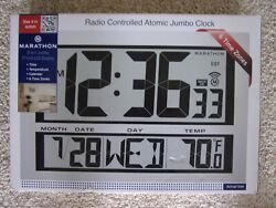 Marathon Radio Controlled Atomic Jumbo Clock - New in Box