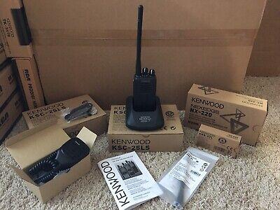 Kenwood Nx-220 Vhf Handheld Two Way Radio With All Accessories Nx-220k