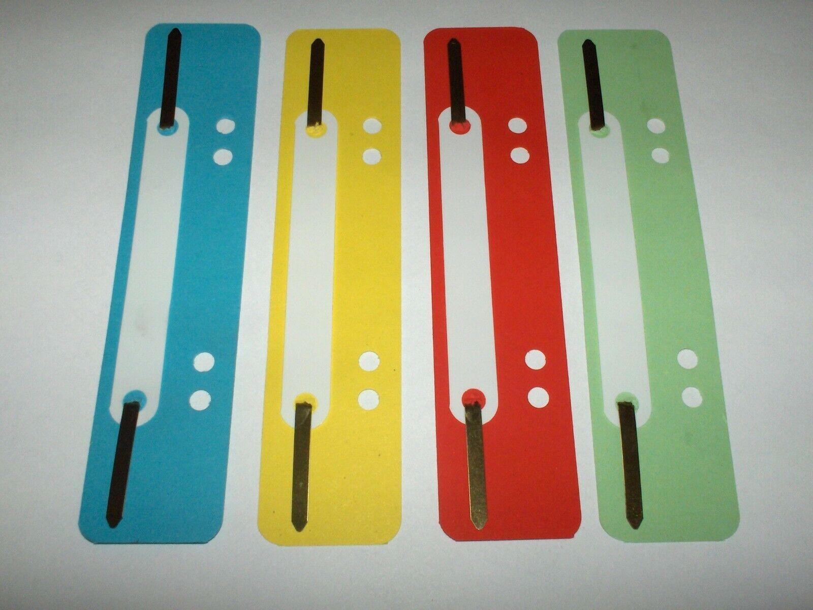 20 Stück Heftstreifen-Abheftstreifen - kurz - aus Recycling-Karton in 4 Farben