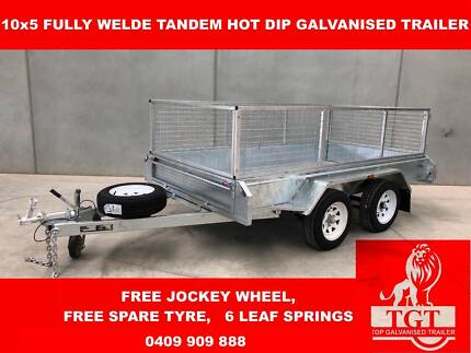10x5 Fully Welded Hot Dip Galvanised Trailer, Top Quality