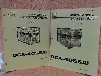MQ POWER 40KVA GENERATOR DCA-40SSAI INSTRUCTION & PARTS MANUALS for sale  Shipping to South Africa