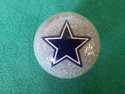 NEW! NFL Dallas Cowboys Collector Silver Pool / Billiard Cue Ball - Dallas Cowboys Nfl Billiard Balls