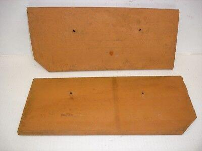 2Ton Ortgangplatten rot,ca.16,5x38x1,5cm gros für Deko zum bemalen,dekorieren