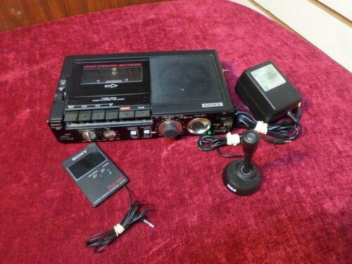 Sony Professional TCM-5000EV Cassette Recorder Voice-Matic Vtg Japan Adapter Mic