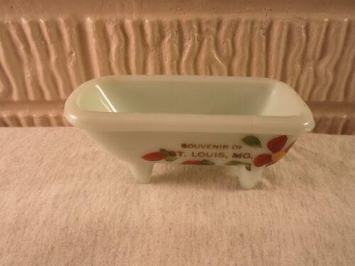 St Louis MO Missouri, light  green custard souvenir bath tub